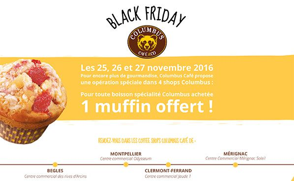 "Opération ""Black Friday"" chez Columbus Café & Co"