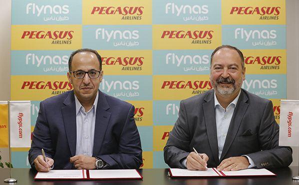 Pegasus Airlines et flynas signent un accord de partage de codes