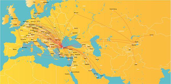 réseau pegasus airlines