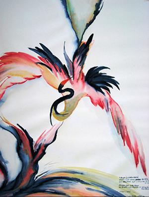 oiseau sacré Eliette Graf