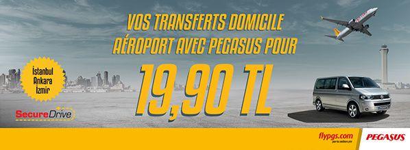 Pegasus s'associe à Secure Drive pour offrir à ses passagers un nouveau service de transfert aéroport