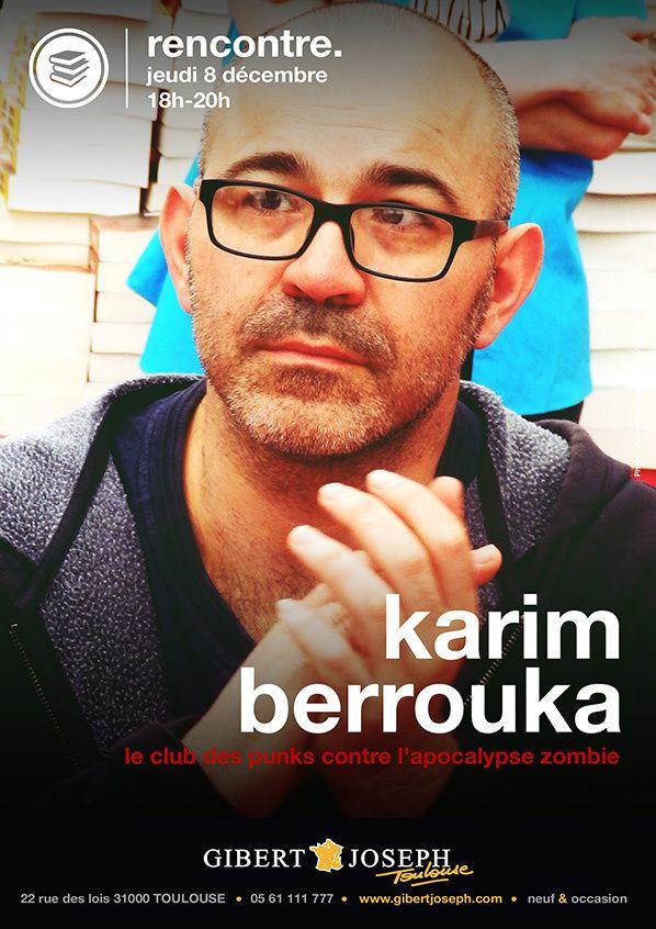 Karim Berrouka séance de dédicace le jeudi 8 décembre de 18h00 à 20h00 au magasin Gibert Joseph Musique à Toulouse.
