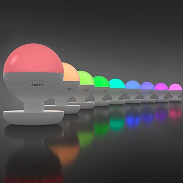 mini lampe chevet aukey rgb led