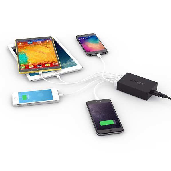 Adaptateur Secteur USB 5 ports Aukey