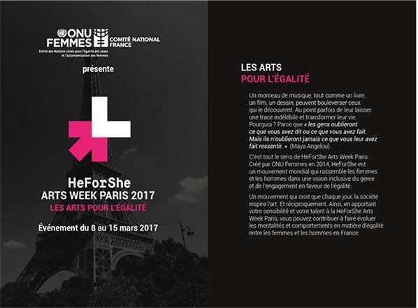 HeForShe Arts Week Paris 2017 : les Arts pour l'égalité
