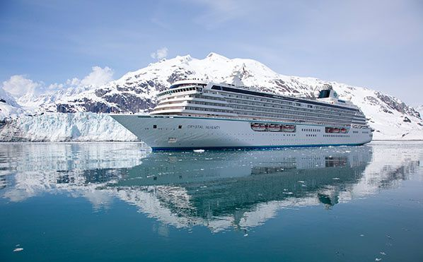 Crystal Serenity in Glacier Bay credit photo Crystal Cruises