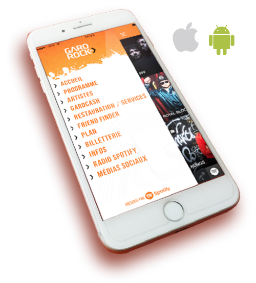 application garorock_ios_android