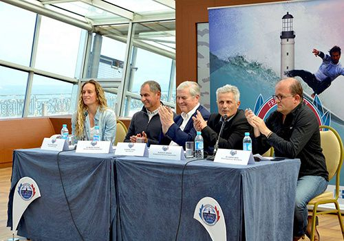 conférence presse biarritz france isa world surfing games