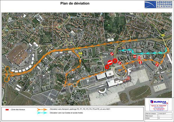 plan déviation aeroport toulouse blagnac