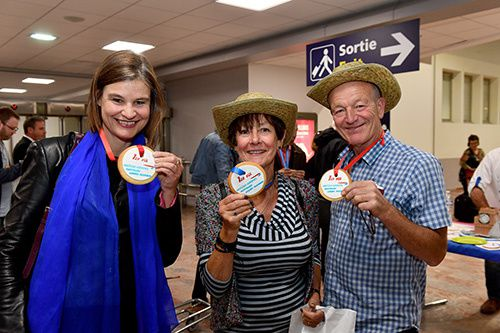 Elisabeth Ruff et les passagers du vols Londres Heathrow Montpellier
