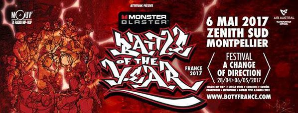 Mouv' en direct du Battle Of The Year France à Montpellier samedi 6 mai