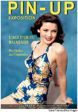 affiche_exposition_pin_up_copyright_Gene Tiarney©Aurimages