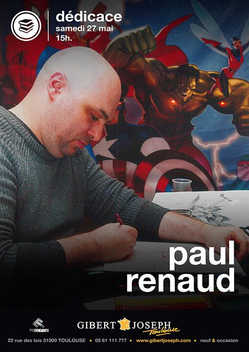 L'illustrateur de Comics toulousain Paul Renaud en dédicace le samedi 27 mai au magasin Gibert Joseph Musique (Toulouse)