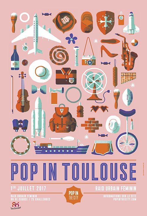 affiche pop in the city debarque à Toulouse