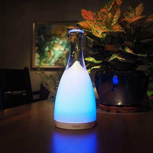 lampe led atmosphere aglaia avec base de recharge