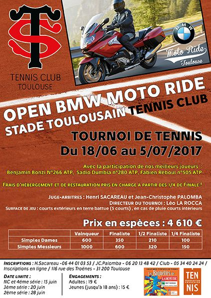 le stade toulousain tennis club organise l 39 open bmw moto ride bernieshoot blogueur chroniqueur. Black Bedroom Furniture Sets. Home Design Ideas