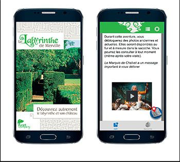application mobile le labyrinthe de merville