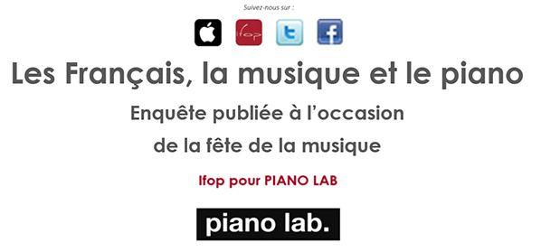 Les Français, la musique et le piano etude ifop pour pianolab