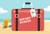 valise bagage voyage depart demain presentation