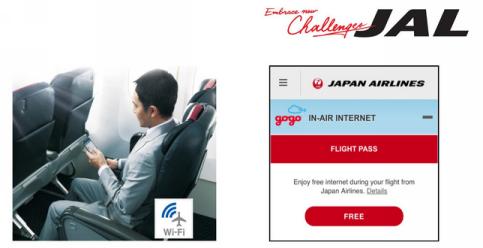 wifi gratuit vol domestique japan airline jal japon voyage
