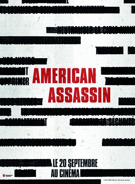 affiche teaser  film american assassin cinema