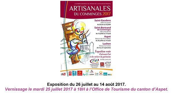 Artisanales du Comminges 2017 Exposition-vente d'artisanat d'art Commingeois