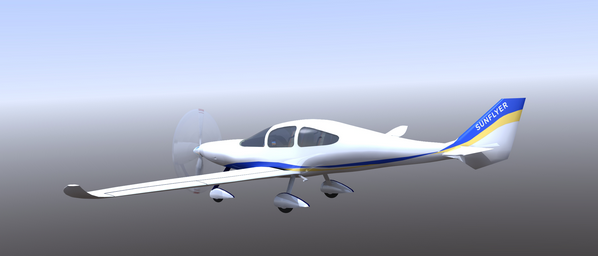 "ero Electric Aircraft Corp. (AEAC) announced plans for a four-place airplane, ""Sun Flyer 4,"""