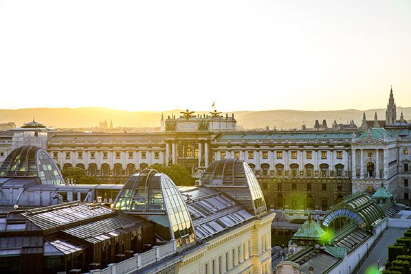 View of the Hofburg-Vienna is becoming increasingly popular as a tourist destination
