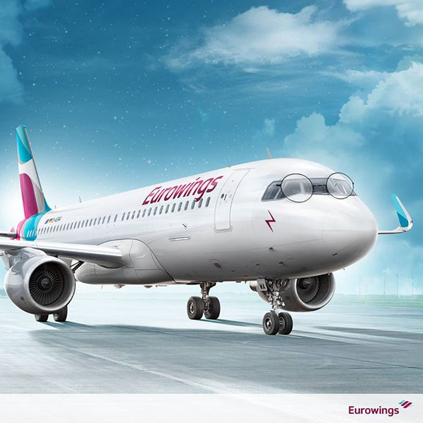 eurowings german low coast airline company travel
