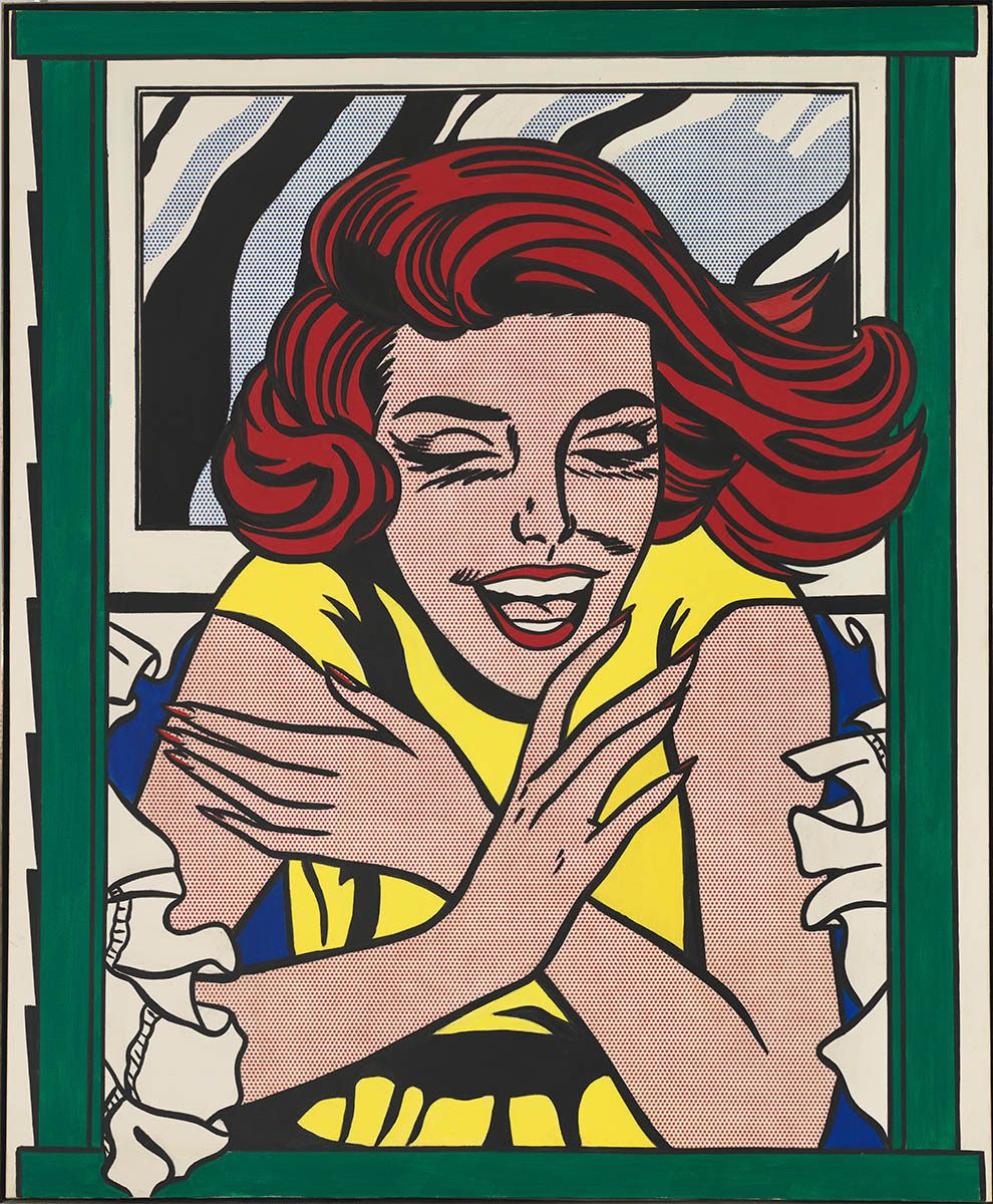 Roy Lichtenstein, Girl in Window (Study for World's Fair Mural), 1963, huile et acrylique sur toile, 173 x 142,2 cm, gift of the American Contemporary Art Foundation, Inc., Leonard A. Lauder, President. © Whitney Museum, N.Y. © Estate of Roy Lichtenstein New York / Adagp, Paris, 2017