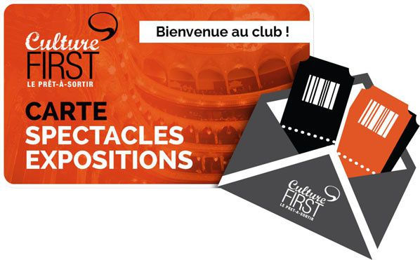 carte club culture first exposition sepctacle musee
