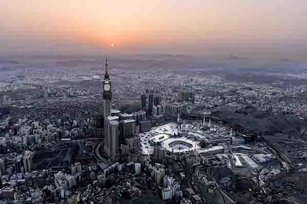 The Great Mosque of Makkah, the largest mosque in the world (Copyright /Ministry of Culture Saudi Arabia)