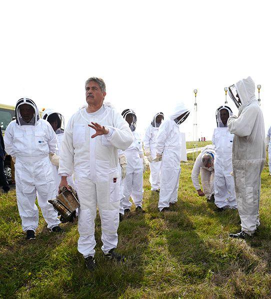 apiculteur professionnel Jean-Claude Chibarie.