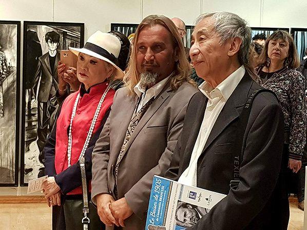 Madame Wang Thierry Rayer et Nicolas Druz administrateur de Lanvin