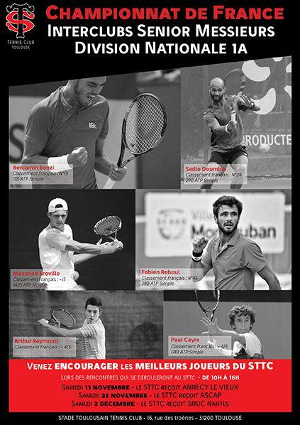Championnat de France Interclubs Senior Messieurs Division Nationale 1A stade toulousain tennis club annecy le vieux