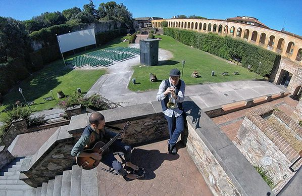 Giardino Scotto Trumpeter Mattia Salvadori and guitarist Diego Ruschena