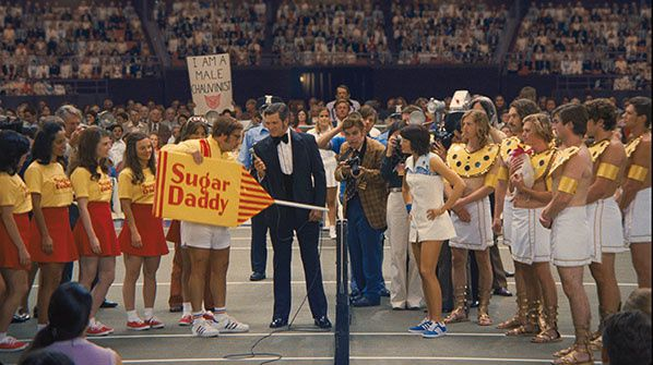 Bobby Riggs (Steve Carell) Billie Jean King (Emma Stone)  battle of the sexes