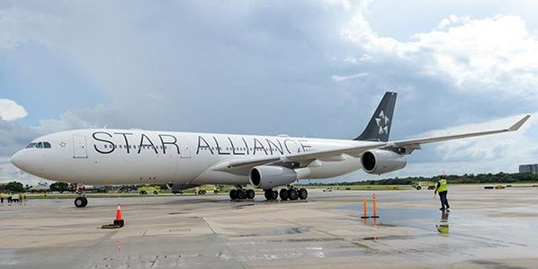 Airbus A340 in Star Livery
