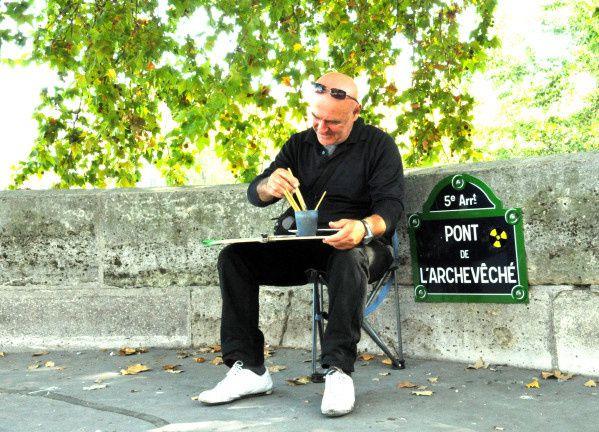 artiste peintre pont archeveché paris