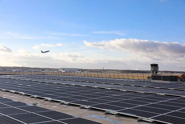 solar power plant car parking toulouse blagnac airport