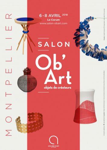 affiche salon OB'ART Corum  Montpellier