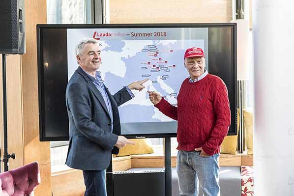 Michael O'Leary- Niki Lauda -  - © Ernst Kainerstorfer