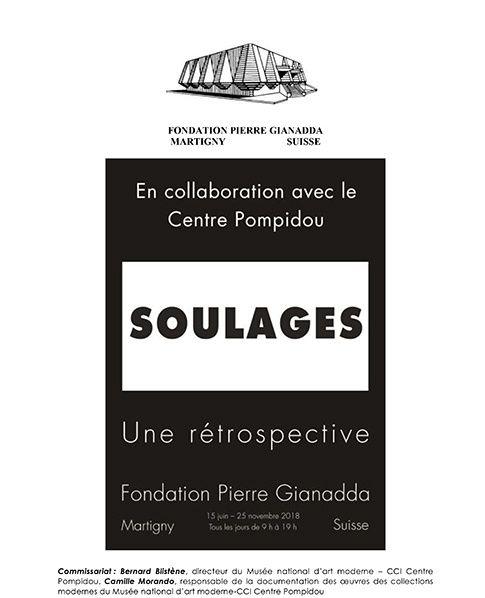 affiche soulages retrospective fondation gianadda
