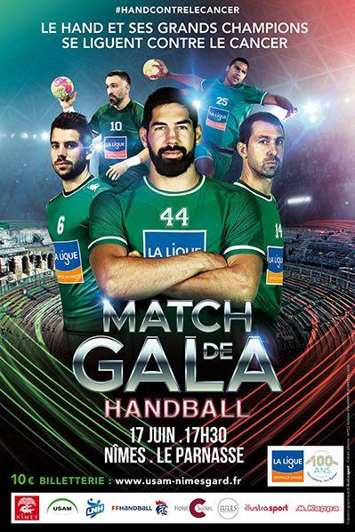 Match Gala Ligue Contre Cancer hand ball nimes