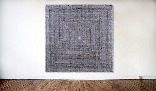Untitled (OB), huile sur toile, 2014, 152 x 152cm série Color Array,