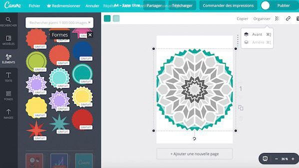 tutoriel canva support coloriage