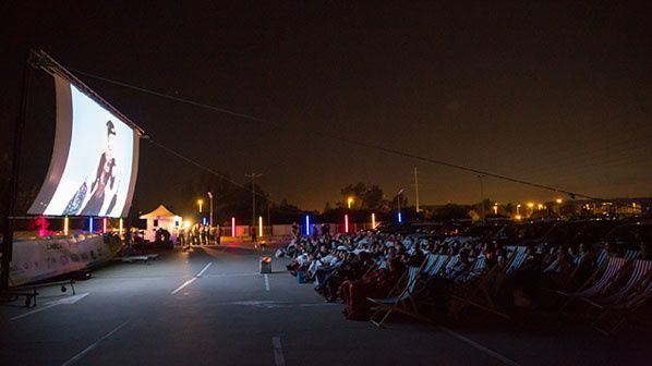 Drive-in festival labege ambiance