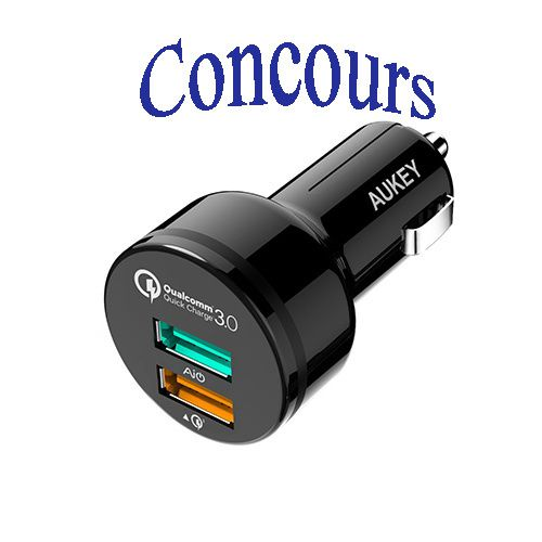chargeur voiture aukey concours