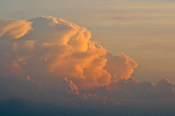 ciel nuages rose