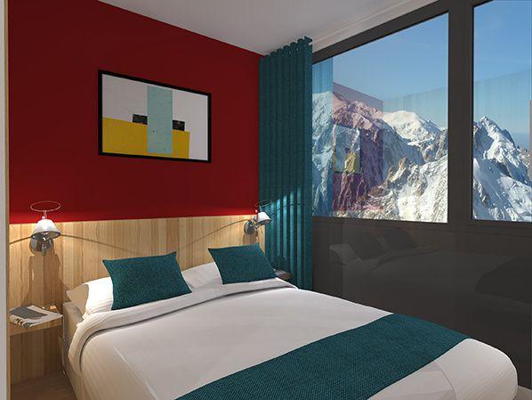 PIAU - Chambre double lit skylodge
